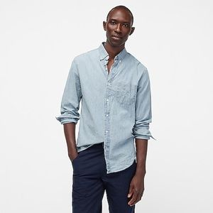 J. Crew Men's Light Denim Button Up Shirt